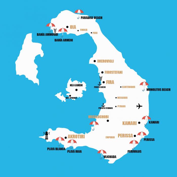 mapas de santorini